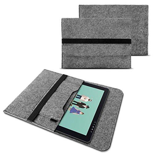 NAUC Sleeve Hülle für Wacom Cintiq Pro 16 Grafiktablett Tasche Stifttablett 15,6 Zoll Cover strapazierfähiger Filz mit Innentaschen und sicherem Verschluss Grau, Farbe:Grau