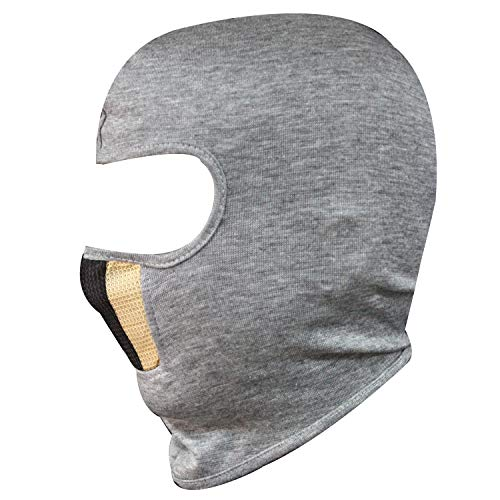 SPENCA Black Free Size Full Face Dust Proof Mask for Bike Cycle Balaclava for Men & Women(1 Piece)_Grey_Cotton