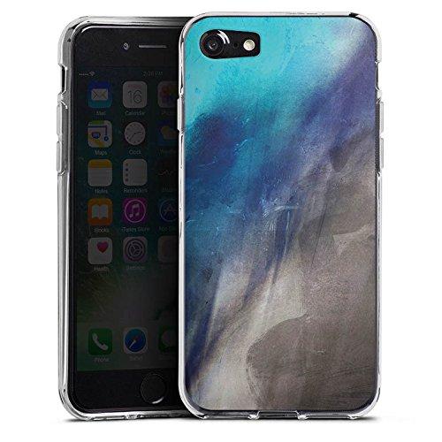 Apple iPhone X Silikon Hülle Case Schutzhülle Wasserfarbe Kunst Pinsel Silikon Case transparent