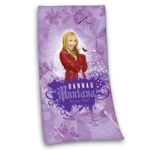 Hannah Montana Strandtuch (Herding 616435516521 Hannah Montana Velourstuch, 75 x 150 cm)