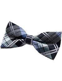 "Retreez Elegant Tartan Plaid Check Woven Microfiber Pre-tied Bow Tie (4.5"")"