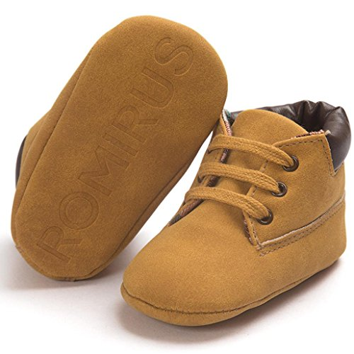 URSING_Babyschuhe Baby Kleinkind Weiche Sohle Schuhe,URSING Säugling Junge Mädchen Schuhe (11cm, Khaki)
