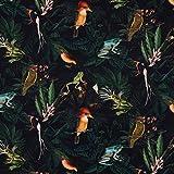 SCHÖNER LEBEN. Dekostoff Gardinenstoff Dschungel Vögel