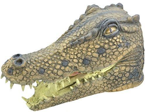 ren Rubber Das Gesicht Bedeckend Maske Animal Halloween Kostüm Kleid Outfit Zubehör - Krokodil (Krokodil-kostüm)