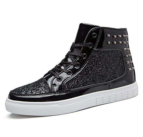 -Schuhe Unisex Nieten Neue Lässige Teller Schuhe Pain Bling Kleider Schuhe EU-Größe 36-44,Black,37EU ()