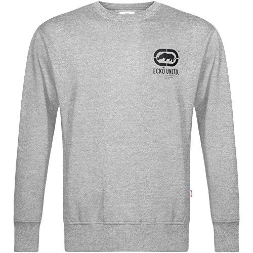 ECKO Unltd. Smart Herren Crew Sweatshirt ESK4163 Grey Marl (Marc Ecko Pullover)