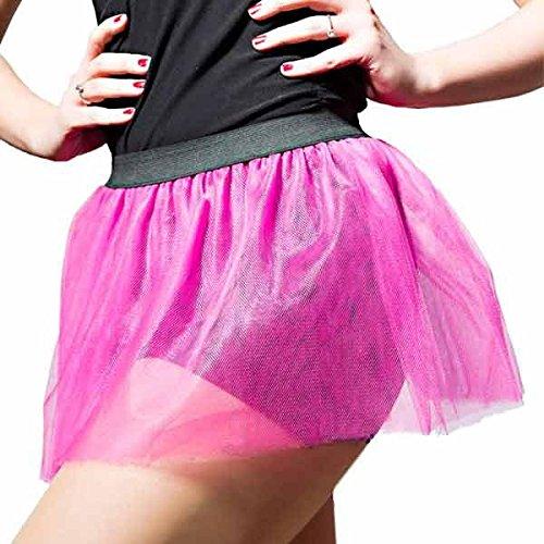 Glänzendes Neon Pinkes Tütü für den - Hot Candy Kostüm
