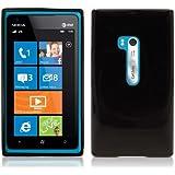 iTALKonline Nokia Lumia 900 Black TPU Gel Skin Case Protective Jelly Cover
