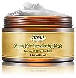 Vitamins Aufbauende Deep Conditioner Haarmaske für dickes strapaziertes Haar. Marokkanisches Argan Öl zum Aufbau von verdünnendem Haar