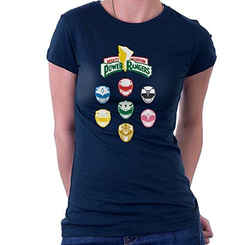 Mighty Morphin Power Rangers Original Women's T-Shirt (Frauen Ranger Shirt Power)