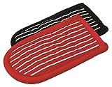 Lodge Griffhalter für heiße Griffe, 2Stück, Baumwolle, Schwarz und Weiß/Rot und Weiß gestreift