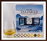 Talisker Single Malt Whisky 3er Set je 5cl Storm, Skye & 10 Jahre mit Glas & 9 DreiMeister Edel Schokoladen, kostenloser Versand