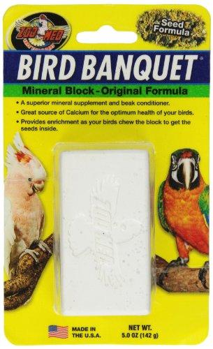 Zoo Med Bird Banquet, Vogelfutter Futterblock, Samen-Mix, groß, 1 x 142 g