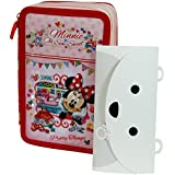 Minnie Disney Estuche Escolar Làpices de colores Plumier triple