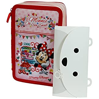 Minnie Disney Estuche Escolar Làpices de colores Plumier triple