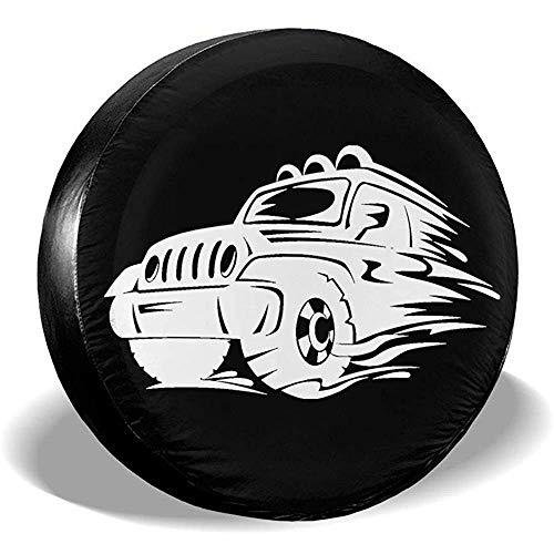 Hiram Cotton Spare Tire Cover Copriruota per Ruota di Scorta Jeep Fuoristrada Extreme Speed   Overdrive Univers