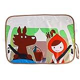 LIOOBO Cartoon Auto Fenster Sonnenschutz Auto Saugnapf Sonnenschutz Protector Block Schädigende UV-Strahlen Helle Sonnenlicht Wärme für Kinder Kind Haustiere (Rote Kappe) Sommer Zubehör