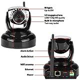 Nexgadget Dratlose 720P WiFi IP Kamera Überwachungskamera Sicherheitskamera Baby Monitor mit Zwei-Wege-Audio, Bewegungserkennung, Alarmmeldung, Nachtsicht für Indoor Schwarz