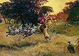 Postkarte A6 • 54701 ''Santa-Safari'' von Inkognito • Künstler: Rudi Hurzlmeier • Weihnachten
