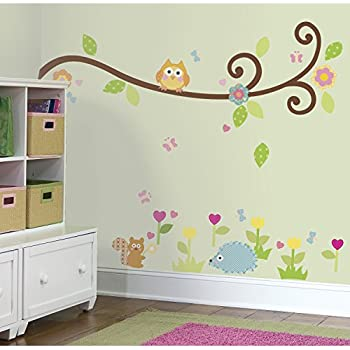 RoomMates Repositionable Childrens Wall Stickers Happi Baby Scroll Branch Part 2