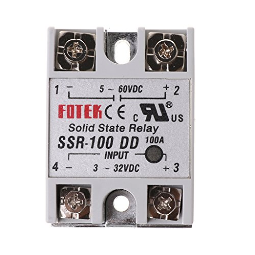 Qiulip SSR-100 DD Solid State Relay Modul 100A 3-32V DC Input 5-60V DC Output Relais -