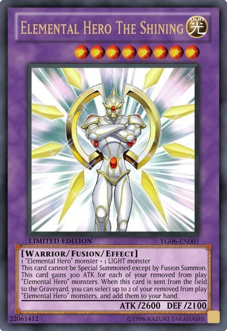 Yu-Gi-Oh! - Elemental Hero The Shining (YG06-EN001) - GX Manga Promos Series 6 - Promo Edition - Ultra Rare by Yu-Gi-Oh!
