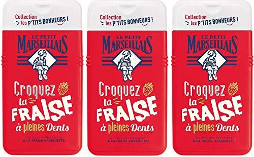 Le Petit Marseillais Gel Douche Hydratant à Fraise Gariguette 250 ml - Lot de 3