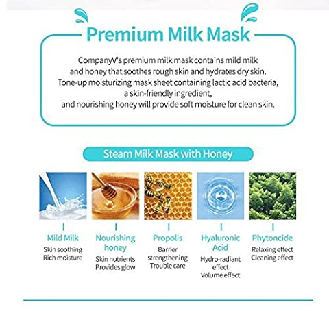 CompanyV Steam Milk Mask with Honey (5 ea)
