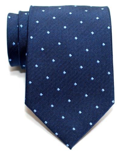 Retreez Retro cuadrado tejido de lunares para hombre corbata corbata-varios colores azul azul marino Talla única