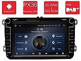 M.I.C. AV8V5-lite Android 9 Autoradio Naviceiver Moniceiver Navigation: PX30 2G+32G 8 Zoll IPS Bildschirm DAB+ Digitalradio Bluetooth USB Mirrorlink GPS CAM Canbus für Seat Skoda Volkswagen