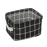 wyxhkj-Sac de rangement 1PCS Panier de rangement pliable en tissu Boîte de rangement pour articles divers de panier de rangement en revêtement PE imperméable en coton Cowboy (noir)