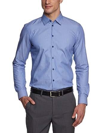 Strellson Premium Herren Businesshemd Slim Fit 11002597 / Quentin-C, Gr. 41, Blau (223)