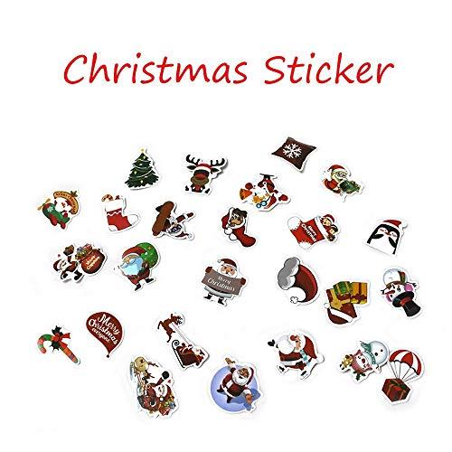 CRITY Aufkleber, Weihnachten Wandaufkleber Weihnachtsmann Schneemann Schneeflocke Elk Fensteraufkleber Selbstklebend DIY Label Zuhause Dekoration (Mehrfarbig)