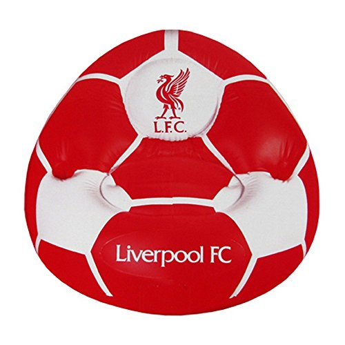 Aufblasbarer Kinder Sessel mit Liverpool FC Wappen (Einheitsgröße) (Rot/Weiß) -