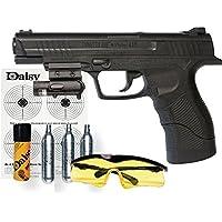 KIT Daisy 415 Powerline LÁSER - Pistola de aire comprimido (CO2) y balines de acero (perdigones BBS) calibre 4.5mm. Réplica + accesorios (150 m/s!) <3,5J