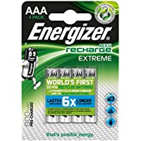 Energizer Extreme-Blister di 4 pile ricaricabili AAA, 800 BP4 pre-responsabile