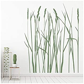 azutura Long Grass Wall Sticker Flowers Trees Wall Decal Nature Flowers Home Decor available in 5 Sizes and 25 Colours X-Small Silver Metallic