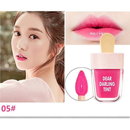 Ice Cream Shaped Lip Tint Glatte lang anhaltende cremige fruchtige Farbe Cute Lip Gloss Lip Stains - Lip Plumping Gel
