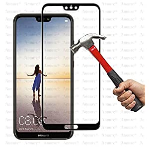 Annure 3D [Shatterproof] Tempered Glass Screen Protector for Huawei P20 Pro - Black