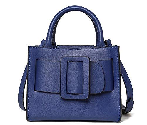 Mefly Leder Taschen Handtasche Mode Dame Royal Blue