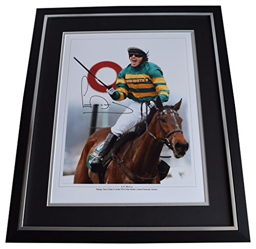 Sportagraphs AP McCoy SIGNED Framed Photo Autograph Huge display Horse Racing Grand National PERFECT GIFT