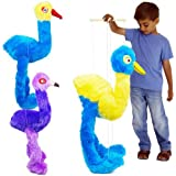 Unibos NEW Giant Large Bird Emu Ostrich Marionette Hand String Puppet Soft Toy