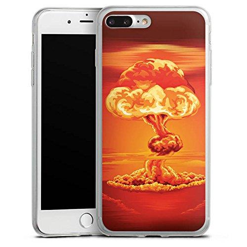 Apple iPhone 8 Slim Case Silikon Hülle Schutzhülle Explosion Krieg Atompilz Silikon Slim Case transparent