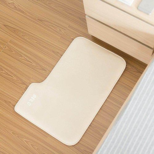 CJANY Wecker Für Schwere Schläfer Creative Rug Teppich Wecker-Teppich Teppich Wecker Nur Stopps Wenn Sie Darauf Stehen Advance Design Für Moderne Home (weiß) (Teppich-wecker)