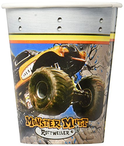 Monster Jam Party Supplies - 9 oz. Paper Cups (8) by BirthdayExpress (Jam Supplies Monster Party)