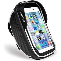 Wasserdicht Fahrradlenkertasche LEMEGO Handyhalterung Handyhalter Fahrrad Tasche Fahrradtasche Rahmentaschen für Handy GPS Navi und andere edge bis zu 6 Zoll Geräte