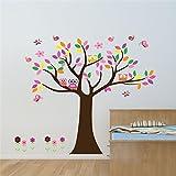Malilove Bunte Baum Wand Aufkleber Für Kinder Zimmer Einrichtung Kinder Geschenk Eulen Home Aufkleber Wandmalerei Kunst Blumen Eulen