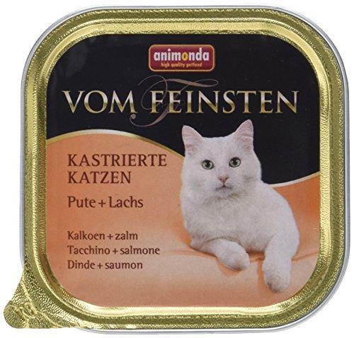 Animonda vom Feinsten Katzenfutter für kastrierte Katzen Pute + Lachs, 32er Pack (32 x 100 g) (Katze Fleisch)