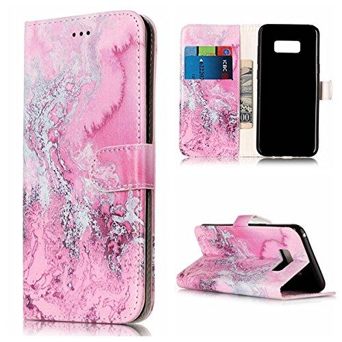 Für Samsung Galaxy S8 Plus Horizontale Flip Case Cover Luxus Blume / Marmor Textur Premium PU Leder Brieftasche Fall mit Magnetverschluss & Halter & Card Cash Slots ( Color : F ) F