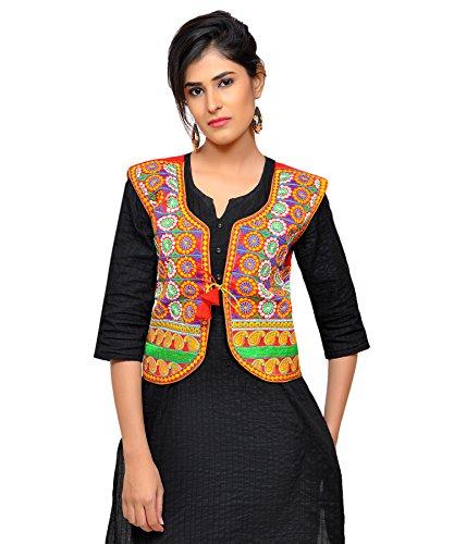 Banjara Women's Cotton Blend Kutchi Jacket/Koti (MJK-CKKR03) - Red  available at amazon for Rs.274